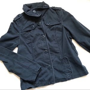 American Eagle navy brushed twill buttoned jacket